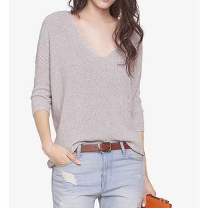 Gray V-Neck London Sweater from Express